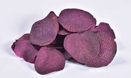 Crispy Purple Sweet potato slices