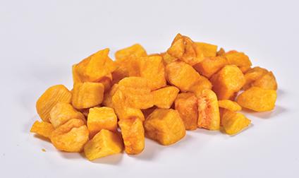 Crispy yellow Sweet potato dices