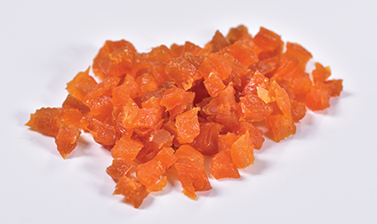 Dried apricots dices